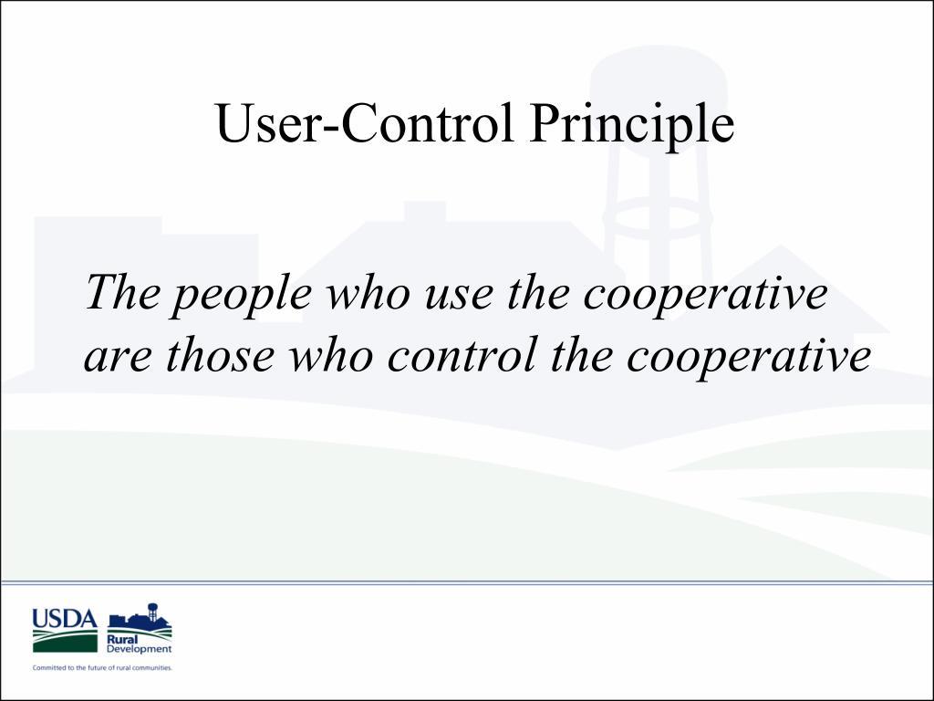 User-Control Principle