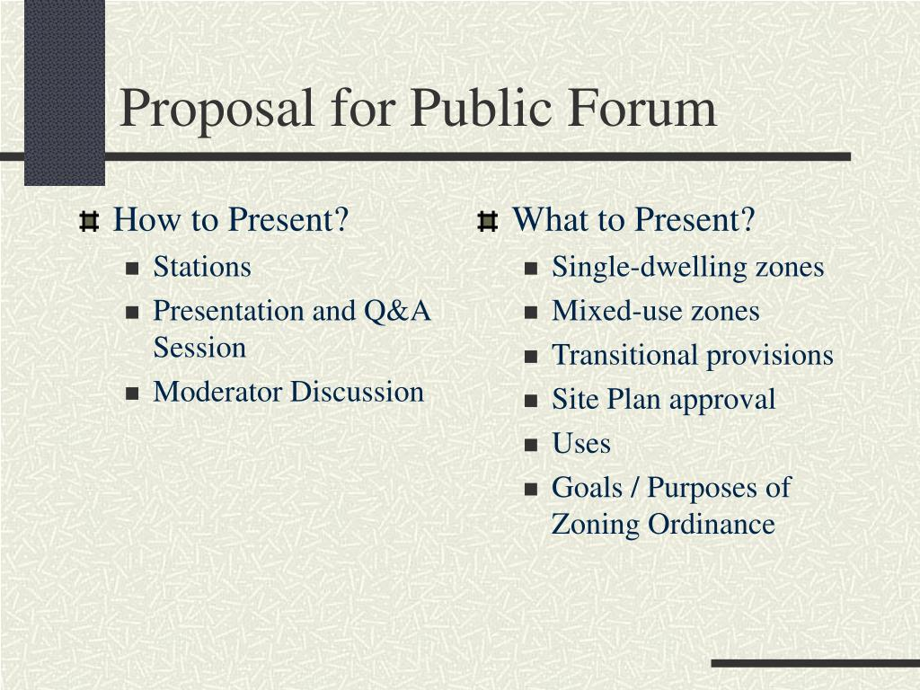How to Present?