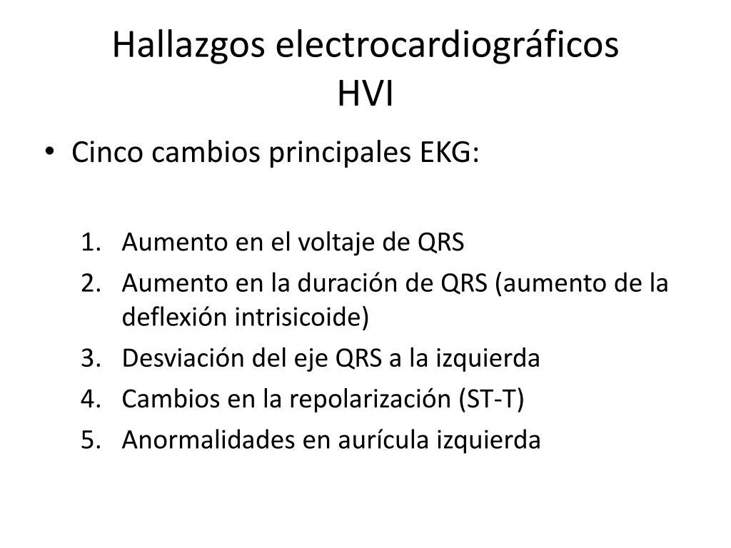 Hallazgos electrocardiográficos         HVI