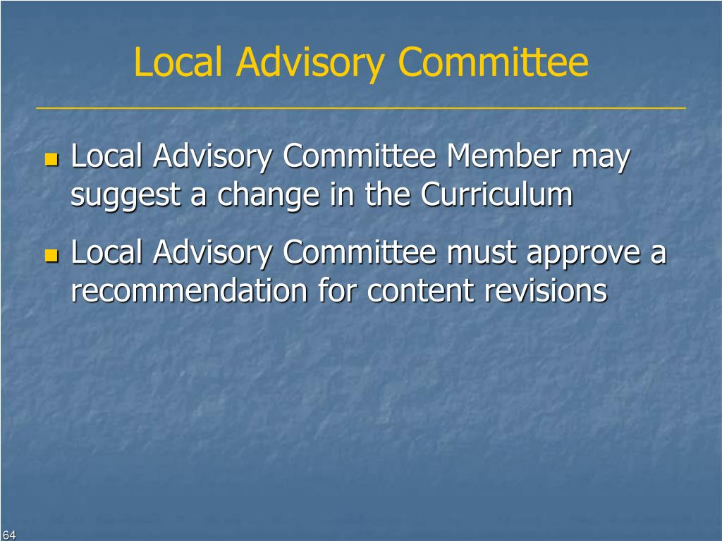 Local Advisory Committee