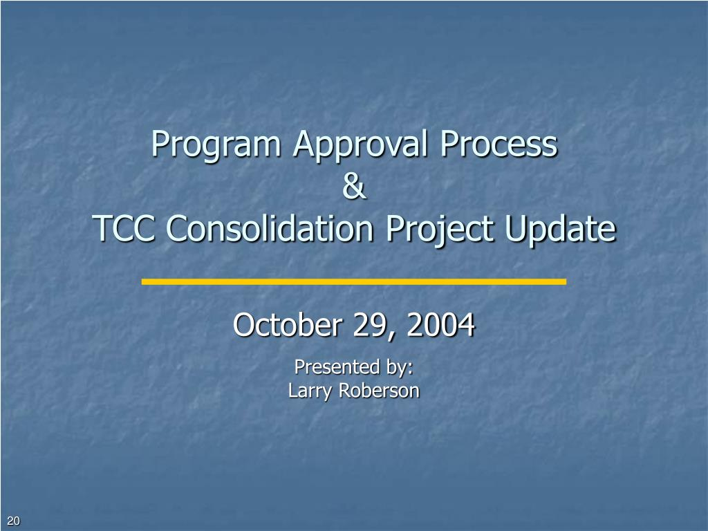 Program Approval Process
