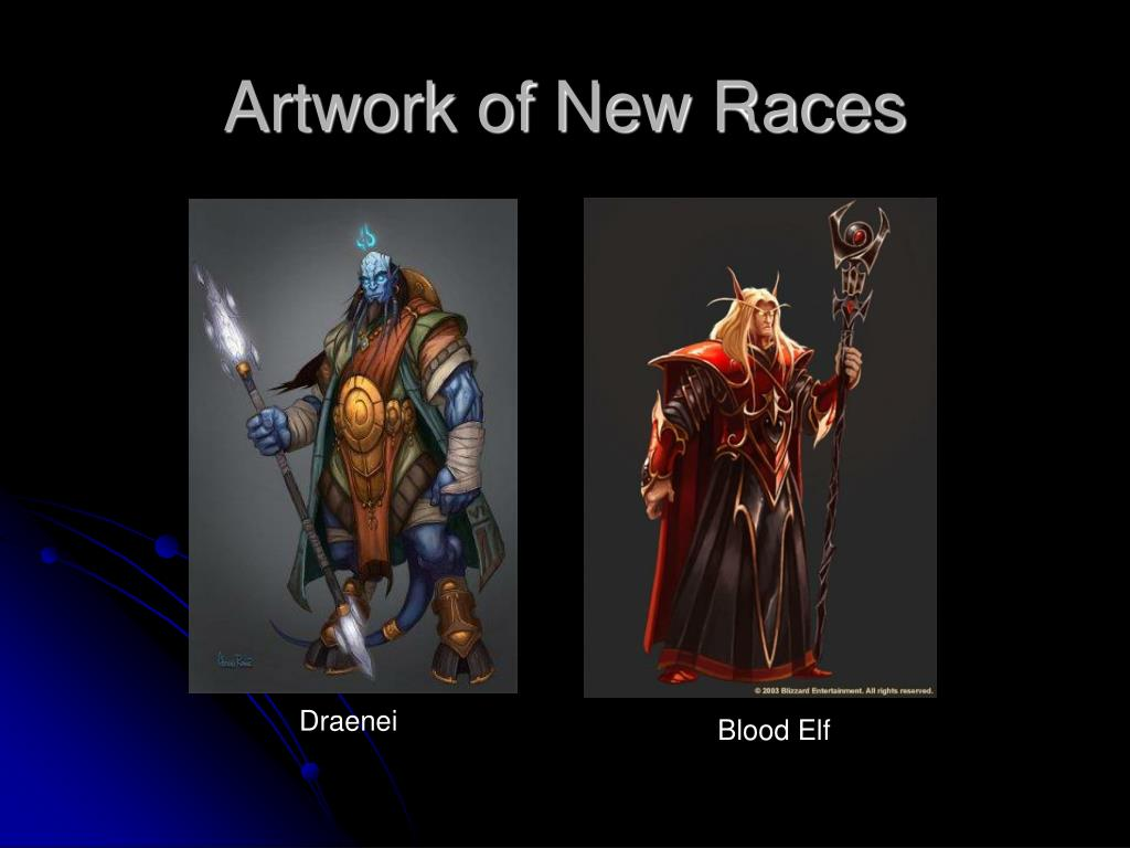 Artwork of New Races