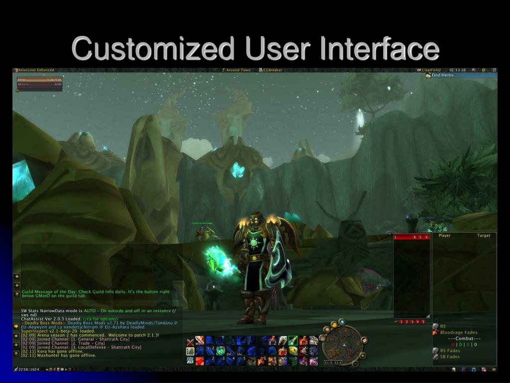 Customized User Interface
