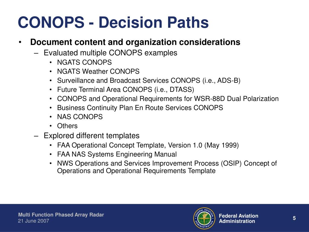 CONOPS - Decision Paths