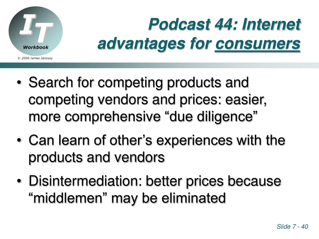 Podcast 44: Internet advantages for