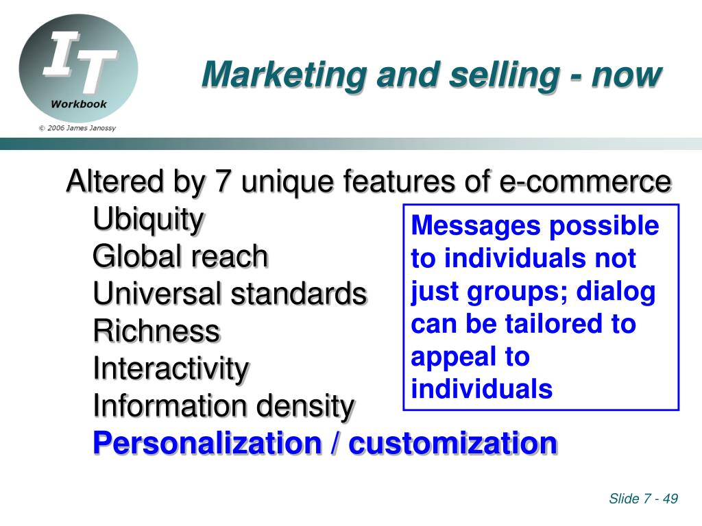 Marketing and selling - now