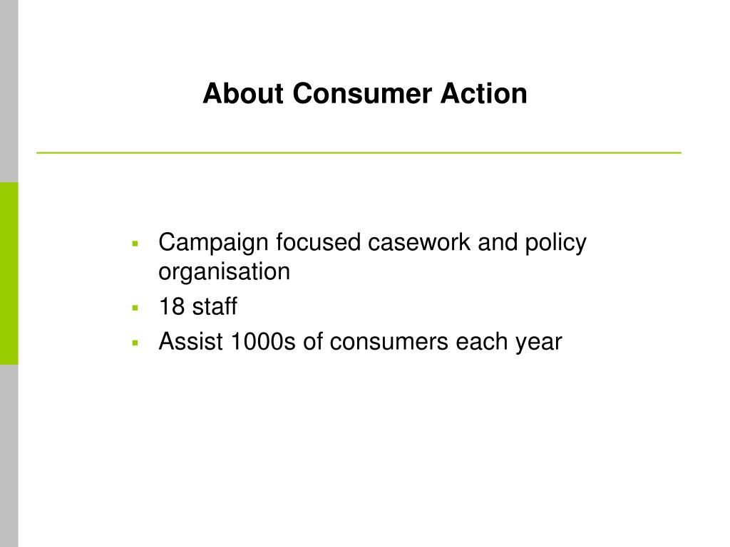 About Consumer Action