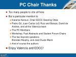 pc chair thanks
