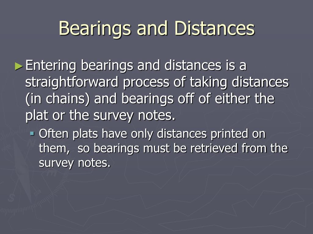 Bearings and Distances
