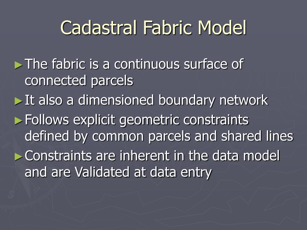 Cadastral Fabric Model