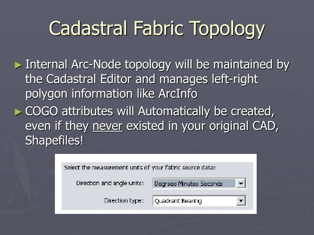 Cadastral Fabric Topology