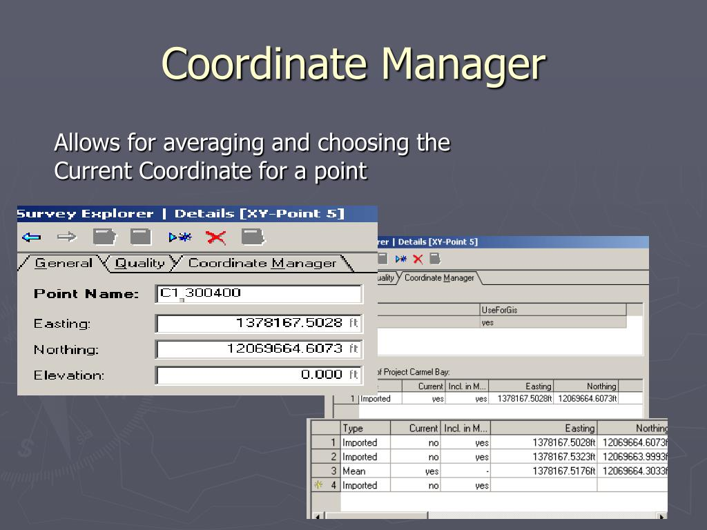 Coordinate Manager