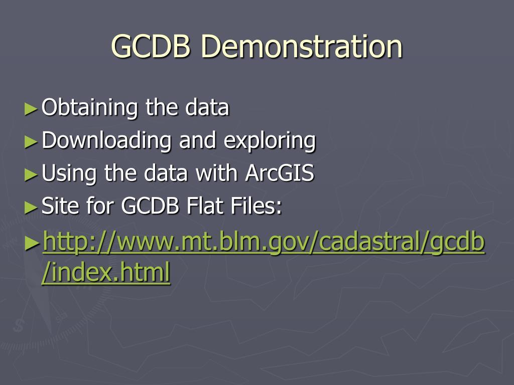 GCDB Demonstration