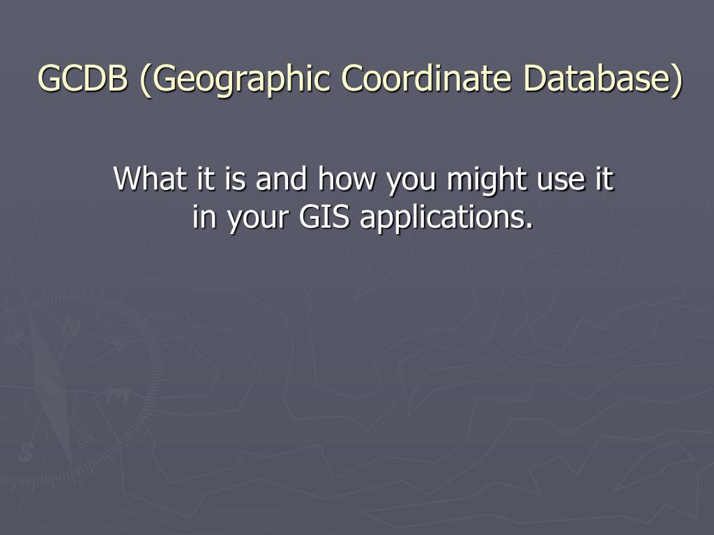 GCDB (Geographic Coordinate Database)