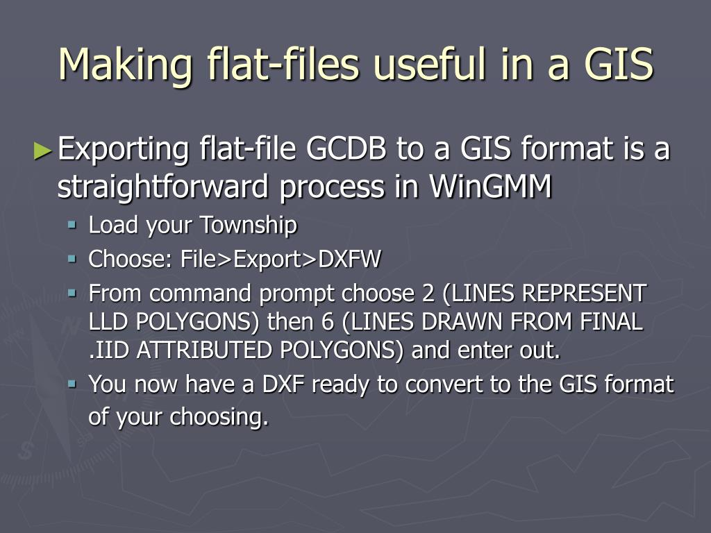 Making flat-files useful in a GIS