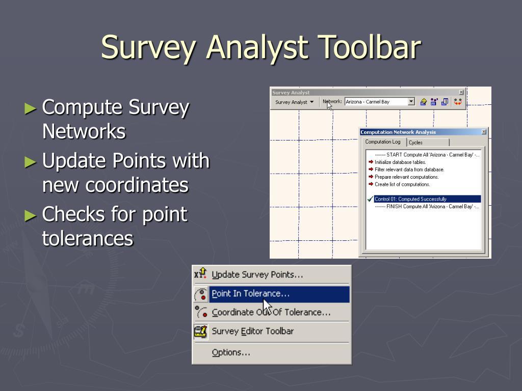 Survey Analyst Toolbar