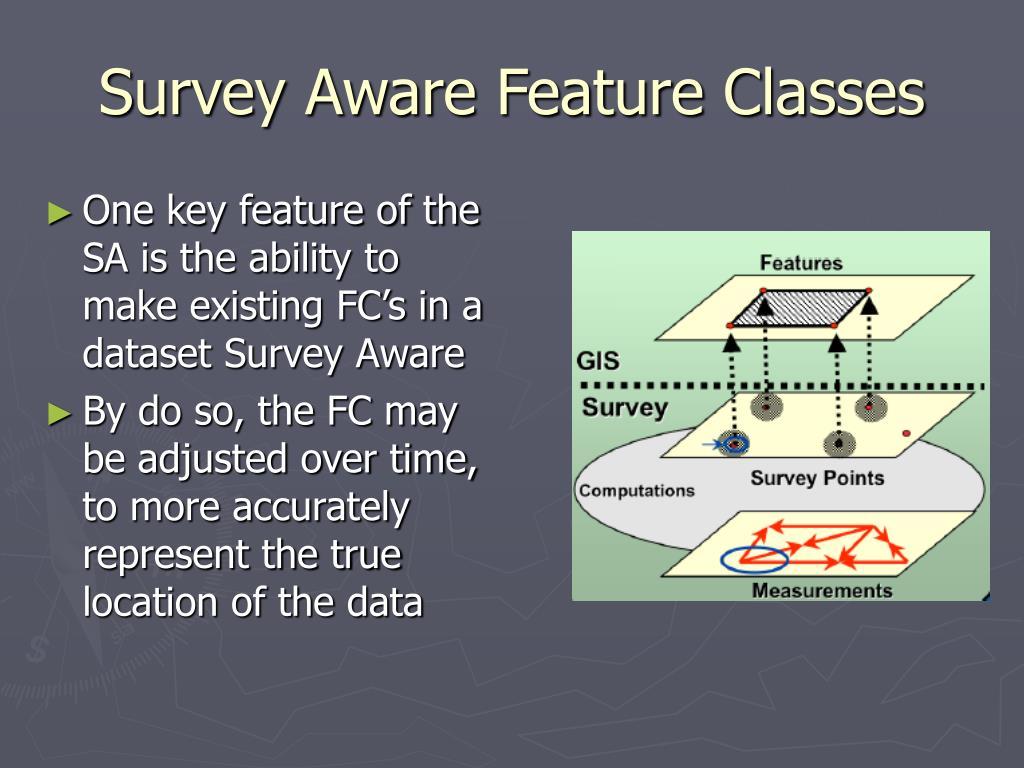 Survey Aware Feature Classes