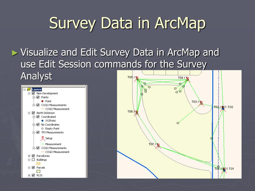 Survey Data in ArcMap