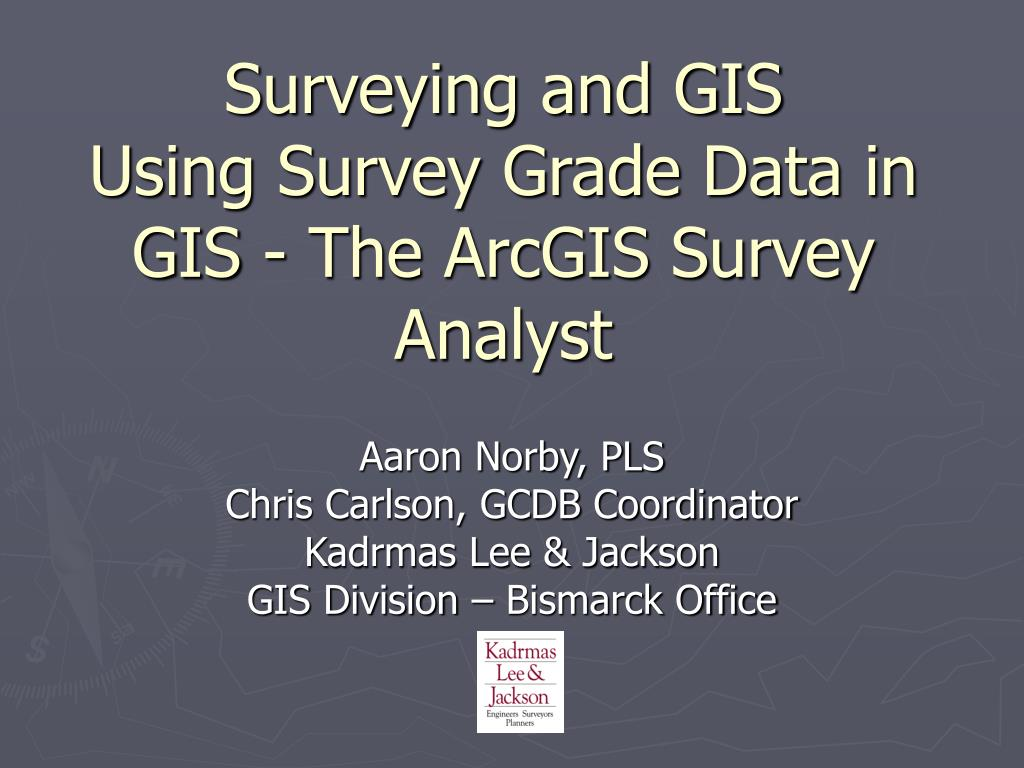 Surveying and GIS