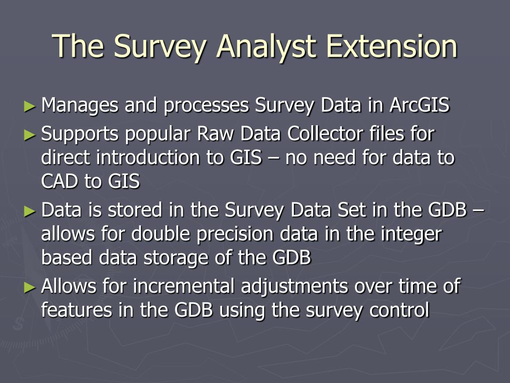 The Survey Analyst Extension