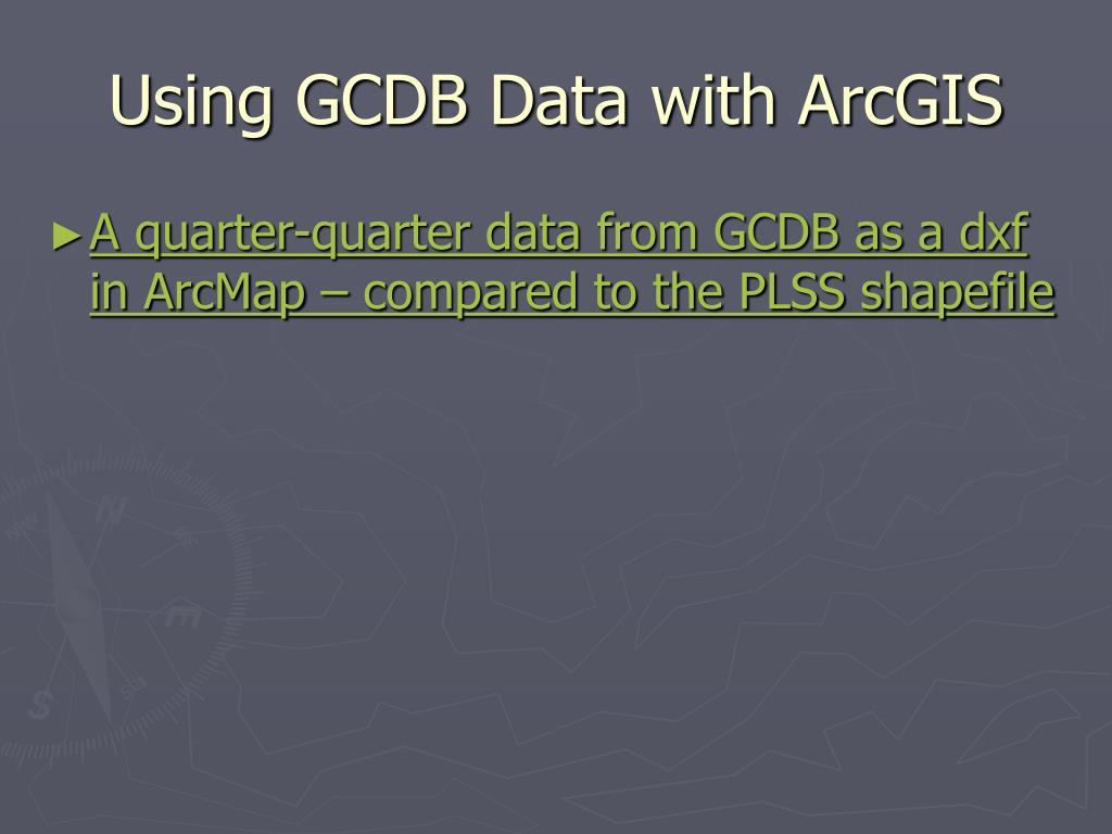Using GCDB Data with ArcGIS
