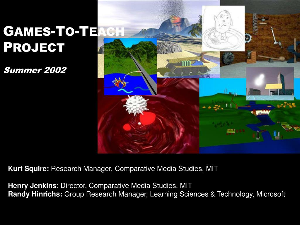 g ames t o t each p roject summer 2002