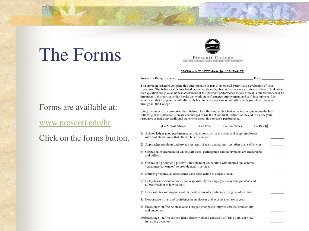 The Forms