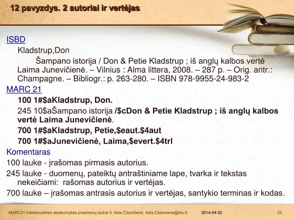12 pavyzdys. 2 autoriai ir vertėjas