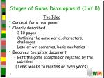 stages of game development 1 of 8
