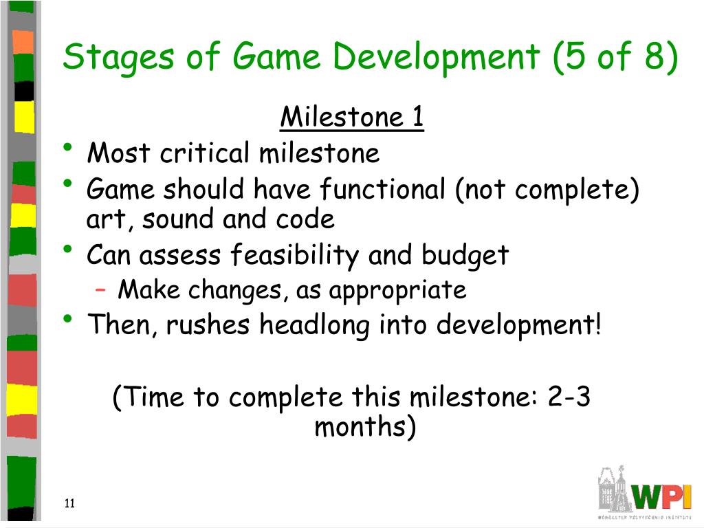 Stages of Game Development (5 of 8)