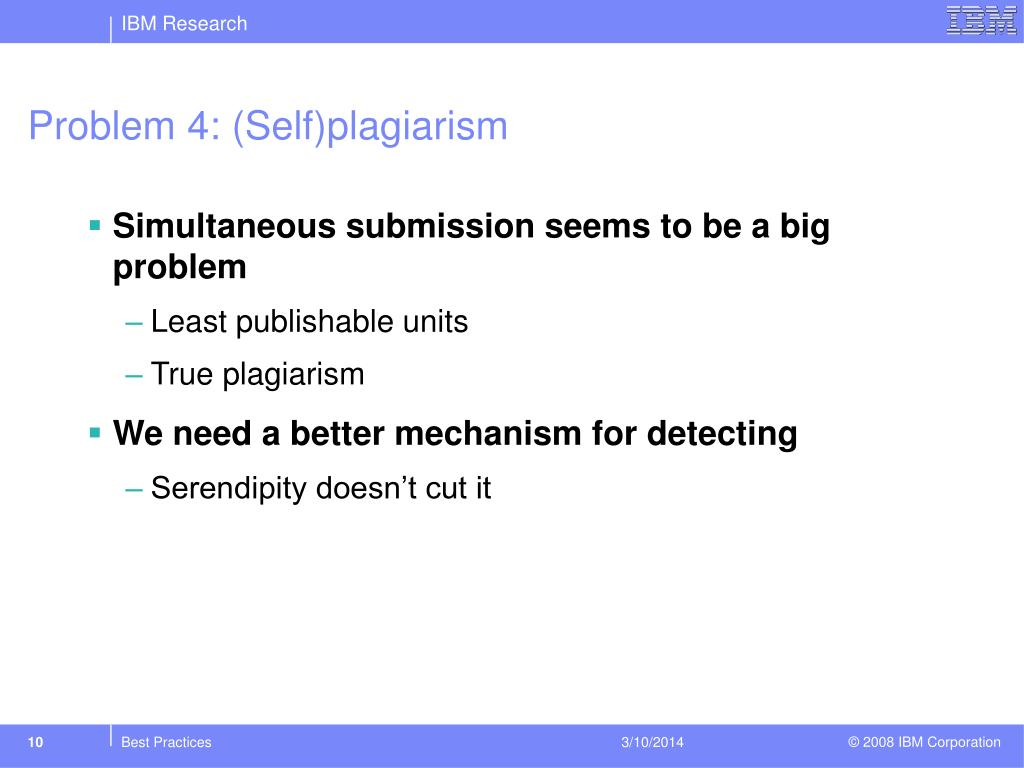 Problem 4: (Self)plagiarism