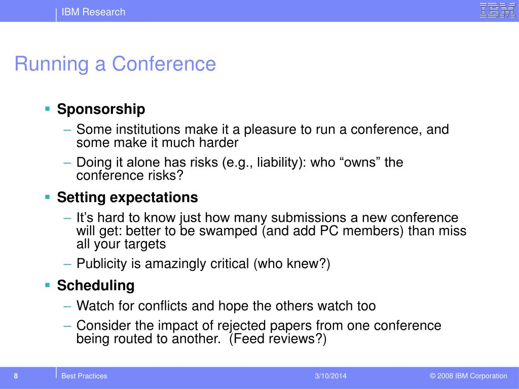 Running a Conference
