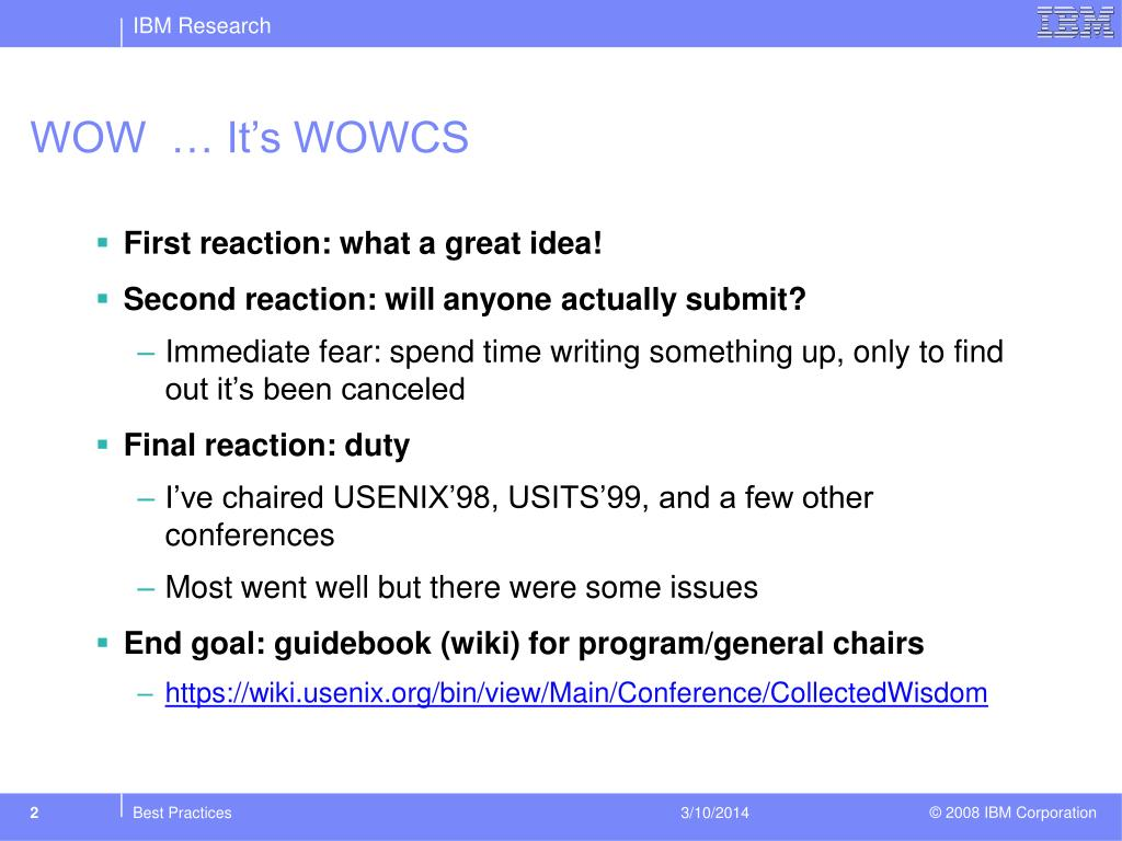 WOW  … It's WOWCS