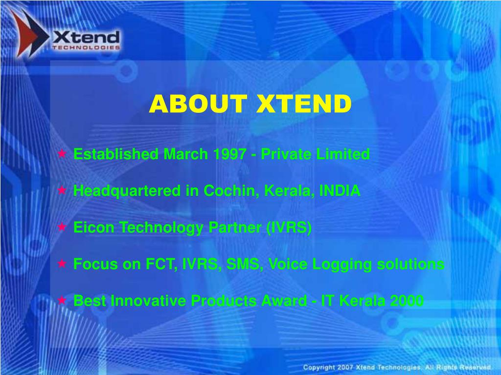 ABOUT XTEND
