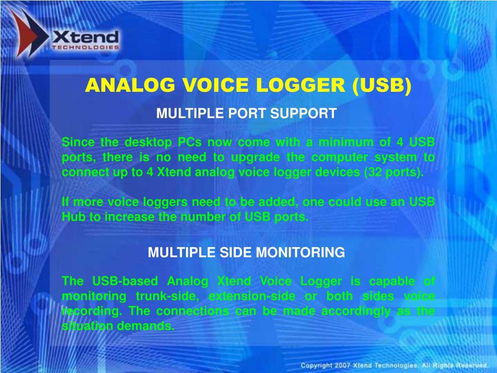 ANALOG VOICE LOGGER (USB)