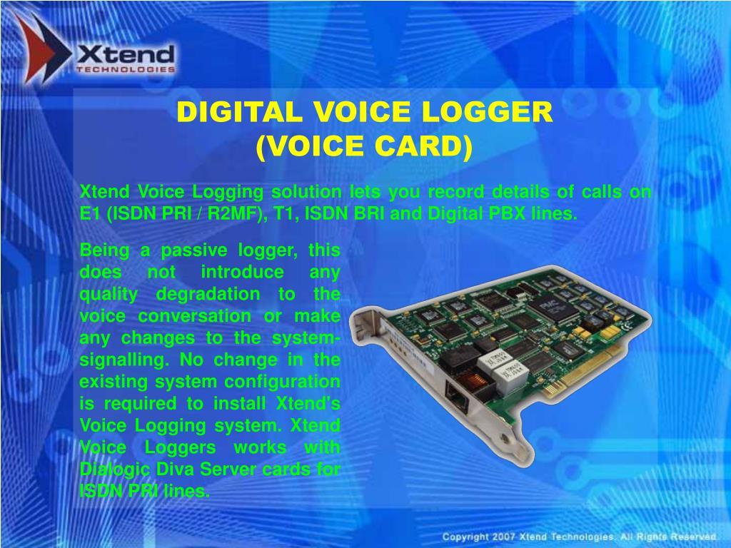 DIGITAL VOICE LOGGER