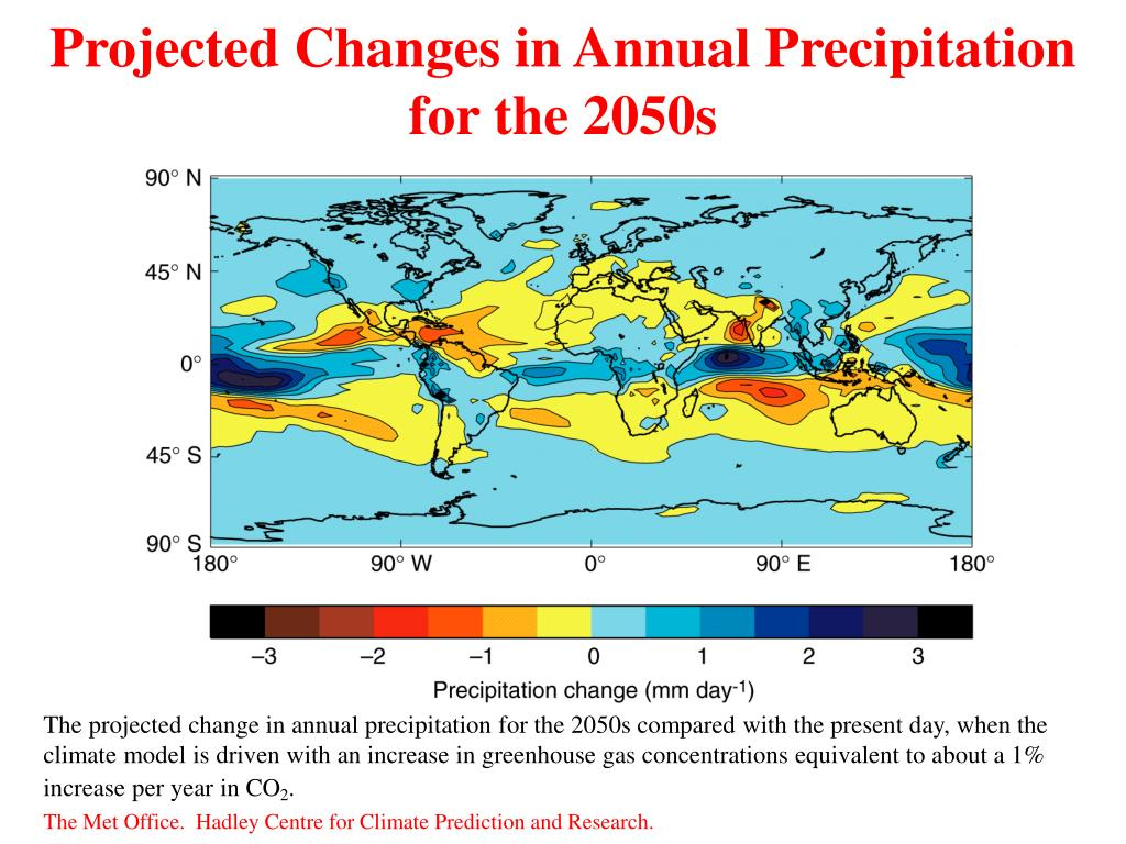 Projected Changes in Annual Precipitation for the 2050s