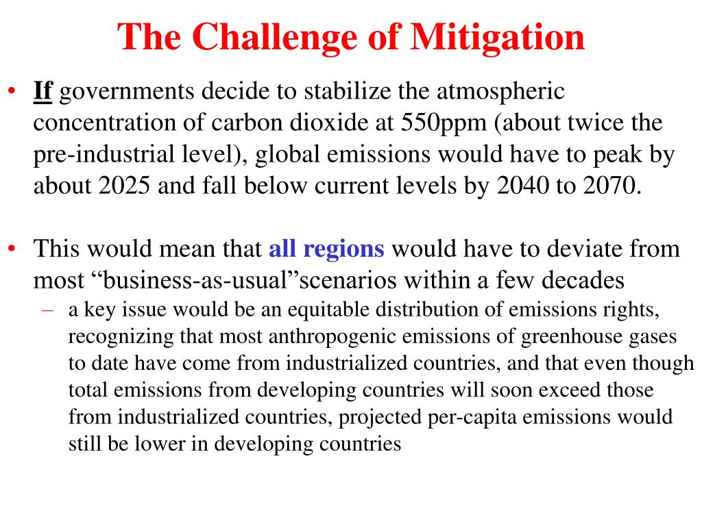 The Challenge of Mitigation