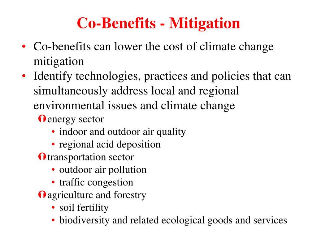Co-Benefits - Mitigation