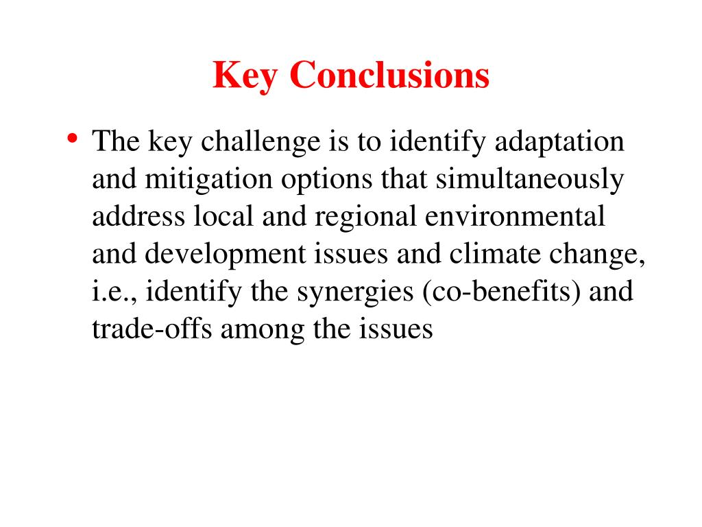 Key Conclusions