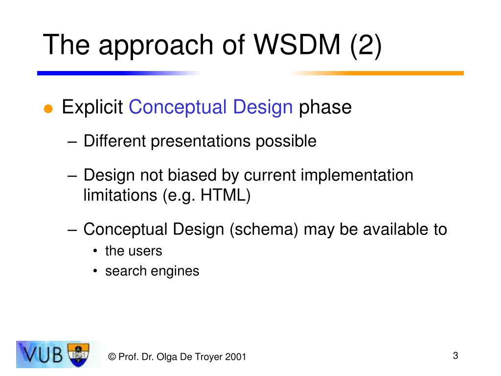The approach of WSDM (2)