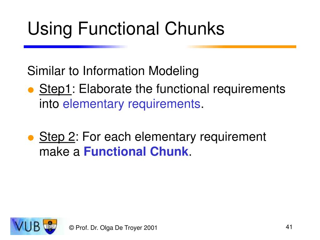 Using Functional Chunks