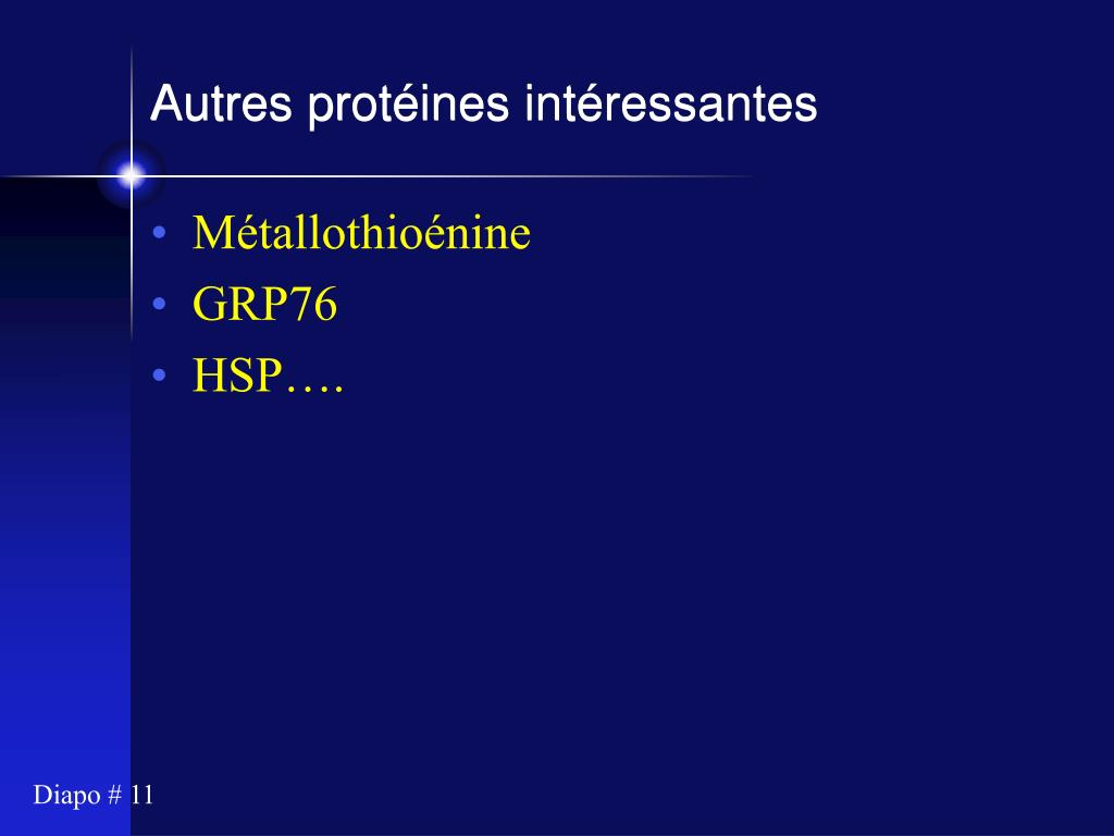 Autres protéines intéressantes