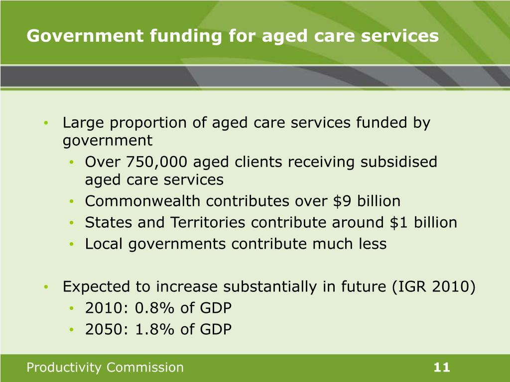 Government funding for aged care services