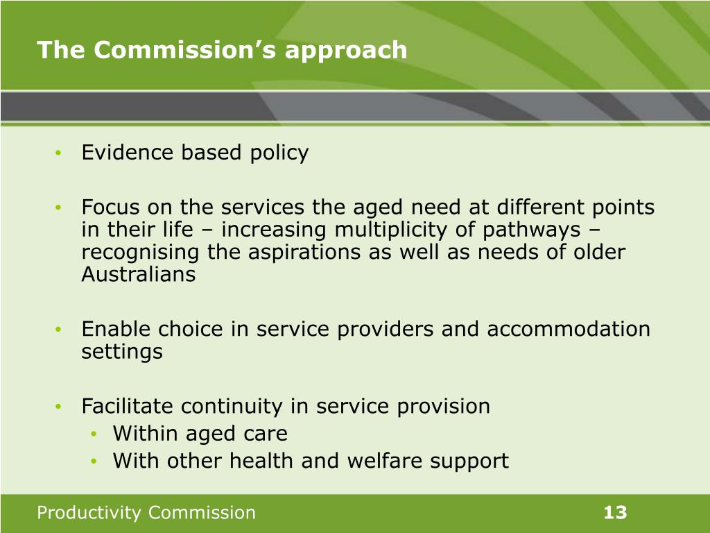 The Commission's approach