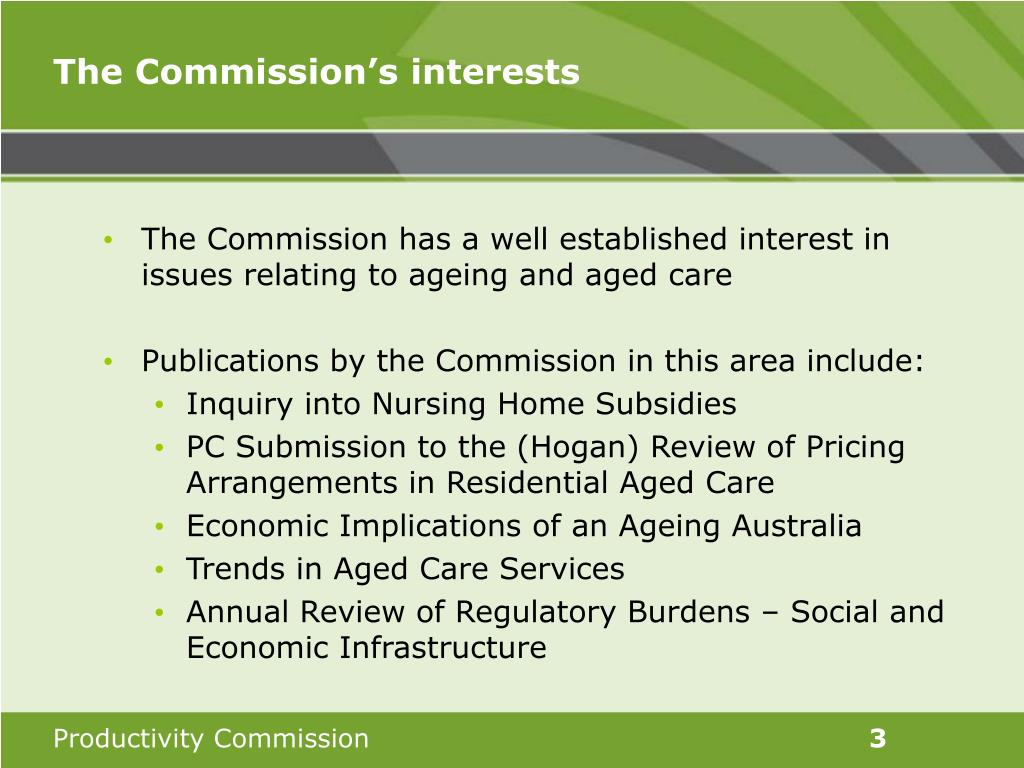 The Commission's interests