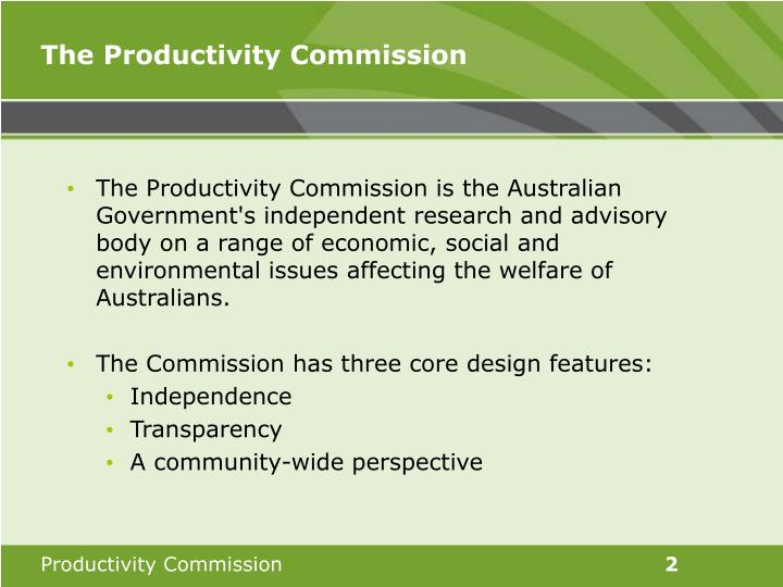 The productivity commission