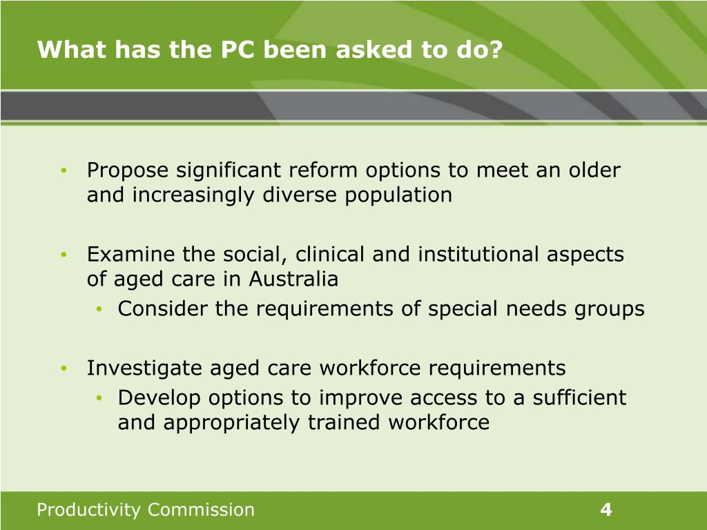 What has the PC been asked to do?