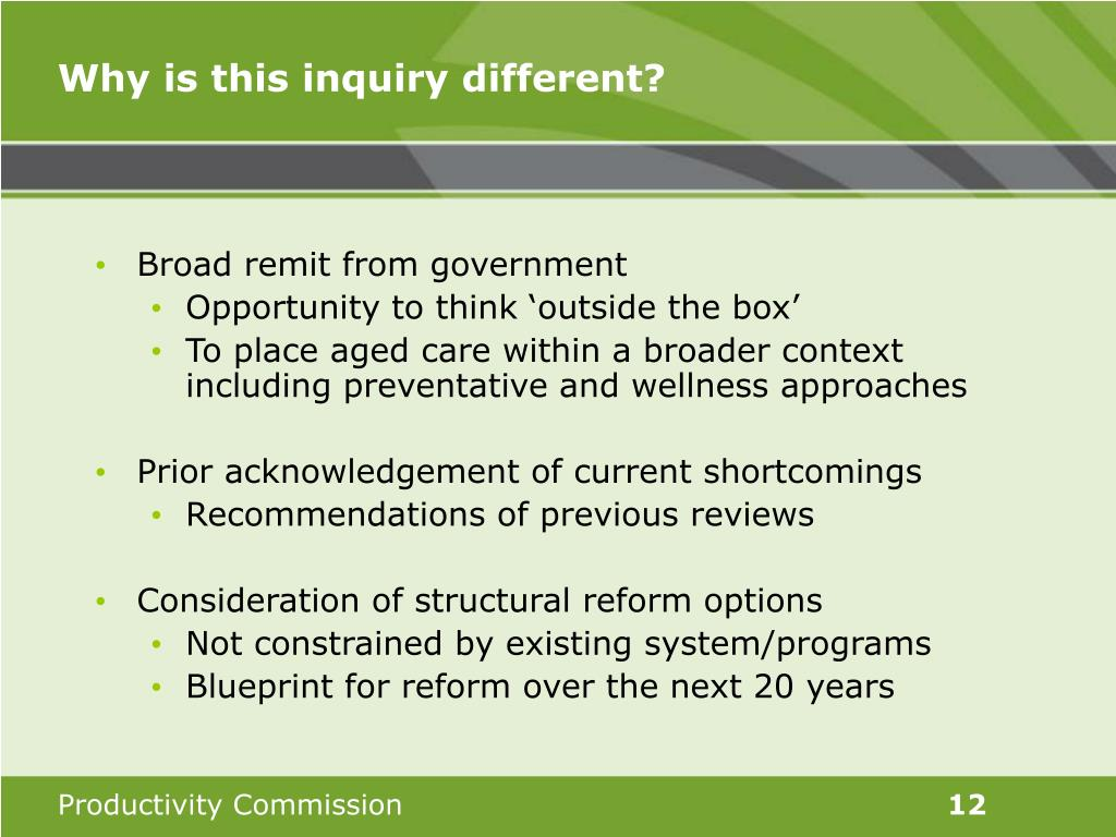 Why is this inquiry different?