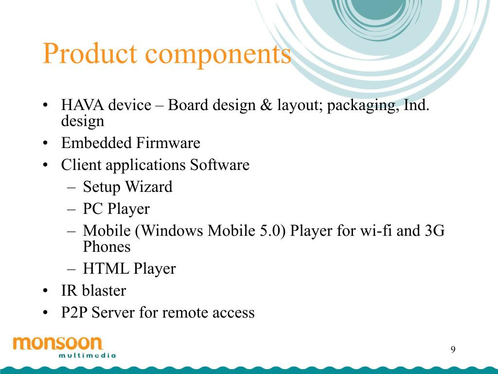 Product components